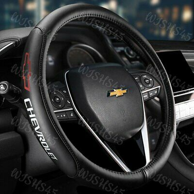 $35.50 • Buy 15  Diameter Car Auto Steering Wheel Cover Genuine Leather CHEVROLET CHEVY Red