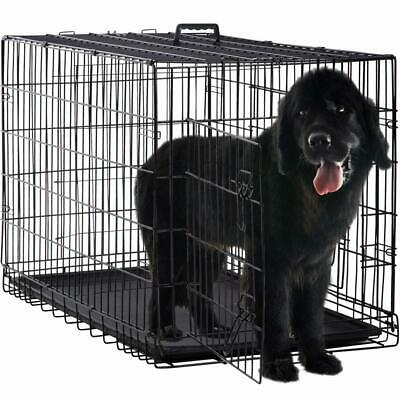 $58.99 • Buy Extra Large Dog Crate Kennel XXL XL Huge Folding Pet Wire Cage Giant Size Breed