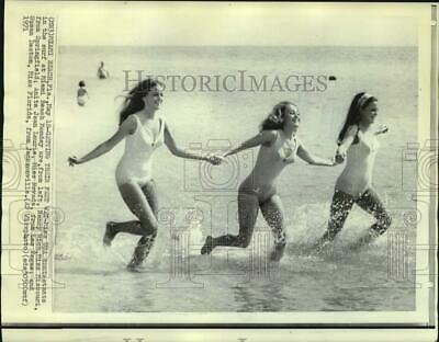 $19.99 • Buy 1971 Press Photo Miss USA Contestants In The Miami Beach Surf. - Now24174