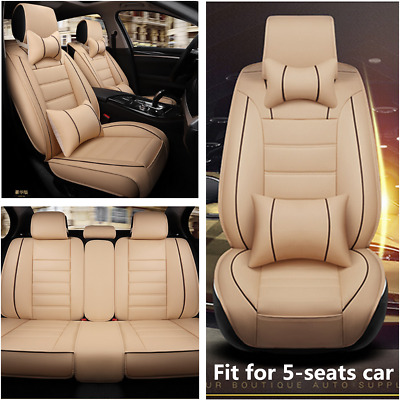 $ CDN114.87 • Buy Deluxe Edition Car Seat Cover Cushion Front+Rear 5-Seats PU Leather Accessories