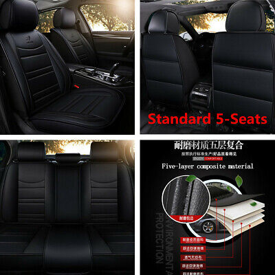 $ CDN127.06 • Buy Standard 5-Seats Car Seat Covers Front+Rear PU Leather For Interior Accessories