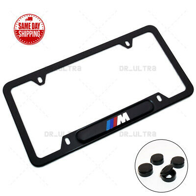 $17.99 • Buy For BMW M Power Sport Front Rear License Frame Plate Cover Stainless Steel Black