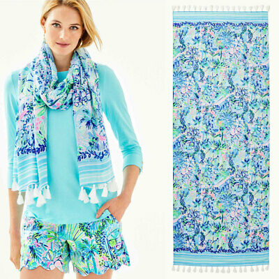 $29.66 • Buy New Lilly Pulitzer Multi Lillys House Engineered Resort Scarf Wrap
