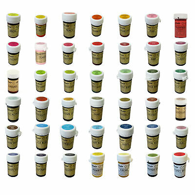 * Any 5 * Sugarflair Paste Edible Gel Concentrated Icing Food Colouring Colour • 11.89£
