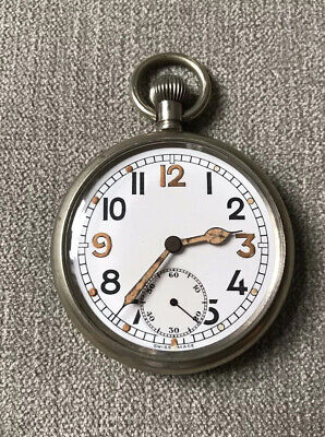 Vintage WW2 Military Issued Swiss Made Pocket Watch - Fully Serviced - G.S.T.P • 135£