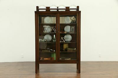 $1450 • Buy Arts & Crafts Mission Oak Antique Craftsman China Display Cabinet #32955