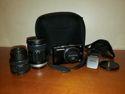 Olympus Pen Lite E-PL3 Twin Lens Kit With 14-42mm And 40-150mm Lenses And Flash. • 150£