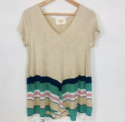$ CDN37.12 • Buy Woman Blouse Size Medium Anthropologie Puella Striped