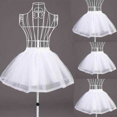 £10.90 • Buy Double Layers Solid Color Short Tulle Petticoats Elastic Waist For Wedding Dress