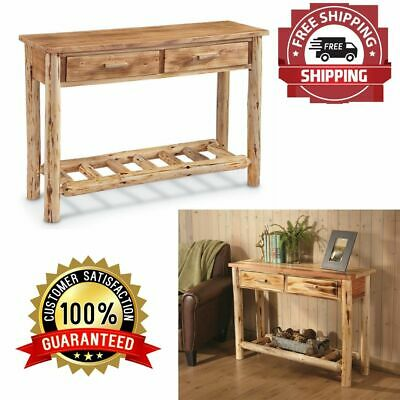 $186.68 • Buy Sofa Table Wood Console Accent Furniture Entryway Hallway Pine Log Rustic Sturdy