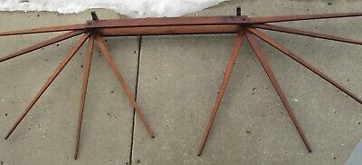 $175 • Buy Antique Fabulous Wooden 10 Spindle Wall Mount Drying Rack, Clothes, Herbs Etc.