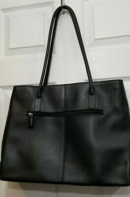 $ CDN49.97 • Buy DANIER Matt Black Laptop Bag SHOULDER PURSE Handbag GENUINE Leather Large Tote