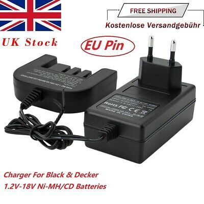 Charger For Black Decker 1.2V-18V A1718 A1712 A12 A18 Ni-MH/Ni-CD Battery EU Pin • 17.89£