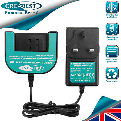 Charger For Black&Decker 1.2V-18V Ni-MH/CD Battery A1718 HPB18 A18 A1712 A12 • 19.89£
