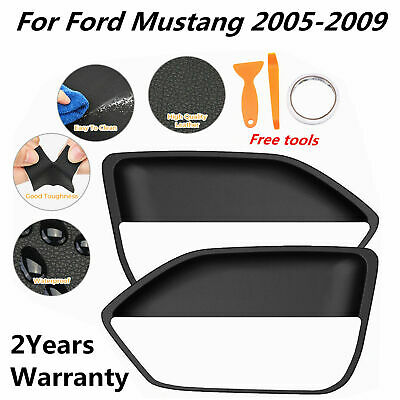 $17.49 • Buy 2pcs Leather Door Panel Insert Cards Cover For Ford Mustang 2005-2009 Black