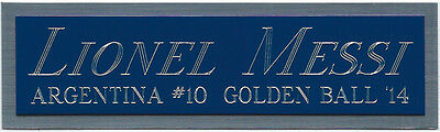 AU16.78 • Buy LIONEL MESSI ARGENTINA NAMEPLATE FOR AUTOGRAPHED Signed SOCCER/FOOTBALL JERSEY
