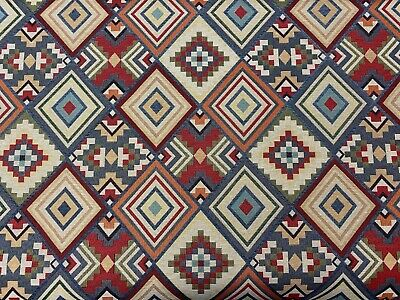 Traditional Aztec Multi Coloured Tapestry Designer Curtain/Upholstery Fabric  • 20£