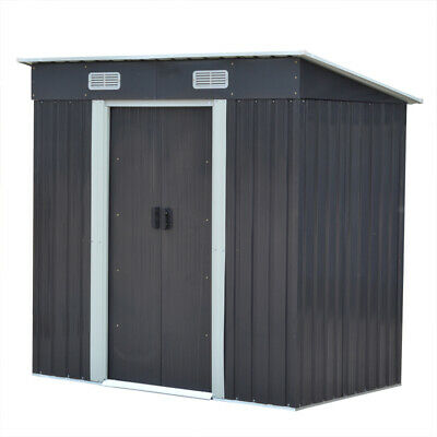 4ft×6ft Metal Garden Shed Outdoor Tool Bike Storage House Pent Roof Heavy Duty • 169.95£