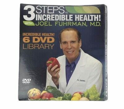 $17.95 • Buy 3 Steps To Incredible Health With Dr Joel Fuhrman New 6 DVD Library Set