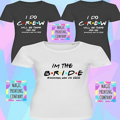 £8.99 • Buy Friends I Do Crew  2020 Hen Do T-Shirt Party Bride Tribe Top Personalised Ladies