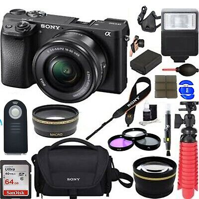 $ CDN2067.29 • Buy Sony Alpha A6300 4k Mirrorless Camera W/ 16-50mm Power Zoom Lens W/ 32GB Bundle