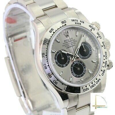 $ CDN54928.07 • Buy Rolex Daytona Watch 18K White Gold Cosmograph 116509  40mm Grey Face - UNWORN