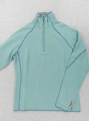$44.99 • Buy Smartwool Merino Wool 1/4 Zip Pullover (Womens Medium) Teal