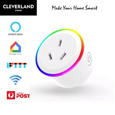 AU23.90 • Buy AU Smart Home Wifi Plug Socket Switch Outlet Adaptor Remote Alexa Google Home