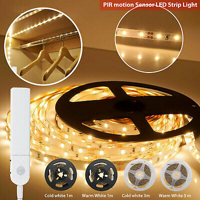 $9.67 • Buy Battery Powered LED Strip Lights PIR Motion Sensor Hallway Closet Stair Wardrobe
