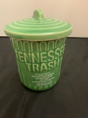 $11.80 • Buy Tennessee Trash Can Opryland Hotel Drink Cup With Lid Green Garbage Can Tiki Mug