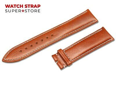 For OMEGA Watch Brown Strap Band Genuine Leather 18-24mm Buckle Clasp Pins • 9.90£