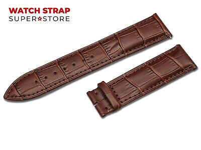 For OMEGA Watch Dark Brown Strap Band Genuine Leather 18-24mm Buckle Clasp Pins • 9.90£