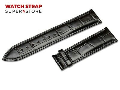 For OMEGA Watch Black Strap Band Genuine Leather 18-24mm Buckle Clasp Pins • 9.90£