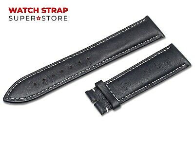 For OMEGA Watch Navy Blue Strap Band Genuine Leather 18-24mm Buckle Clasp Pins • 9.90£