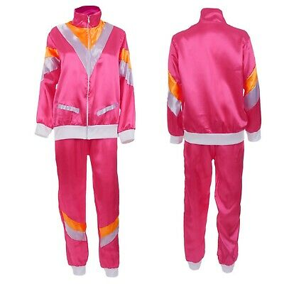 Ladies Pink Scouser Shell Suit 80s Fancy Dress Costume Jimmy Hen Party Outfit • 9.95£
