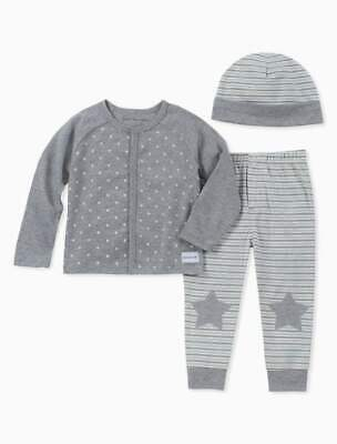 Calvin Klein Baby Boys 3-pieces Top- Pants & Hat Layette Set Size 24 Months New • 19.99£