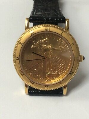 $550 • Buy 2001 1/2 Oz Gold Eagle Coin Watch Swiss Quartz Watch