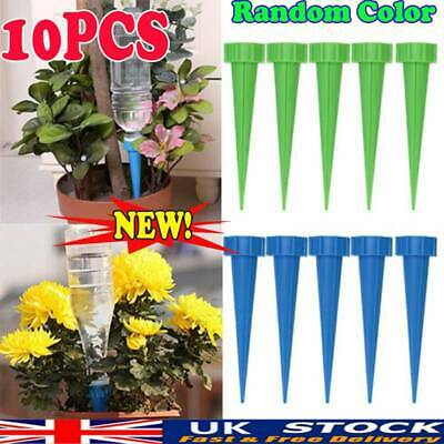 10pcs Plant Self Watering Spikes Automatic Vacation Drip Irrigation Devices UK • 4.53£