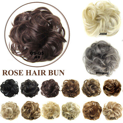 £5.99 • Buy Natural Lady Curly Messy Bun Hair Piece Bobble Scrunchie Fake Hair Extensions UK
