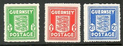 GUERNSEY 1942 GERMAN OCCUPATION ARMS  SG,1 - 3 Mint • 7.99£