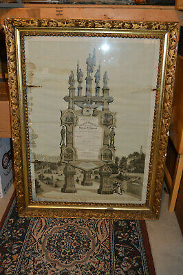 $20 • Buy Civil War Discharge Certificate 1865 Presented In 1897 - In Large Gilt Frame