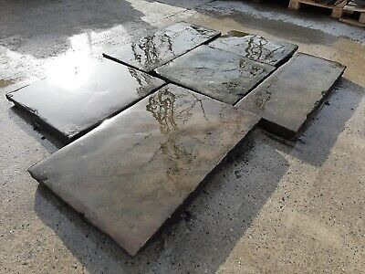Antique Reclaimed Smooth Weathered York Stone Slabs Flags £85 • 85£