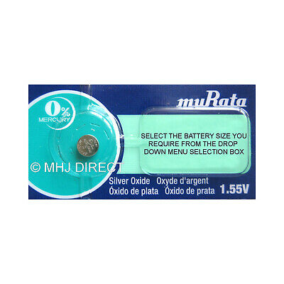 1 X Murata Silver Oxide Button Cell Watch Battery 0% Mercury [Select Size] • 1.59£