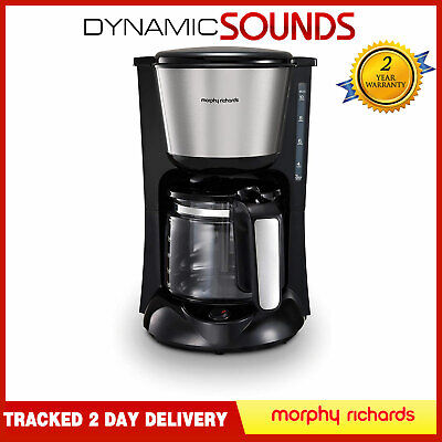 Morphy Richards 162501 Equip Filter Coffee Machine Black / Brushed Steel • 27.95£