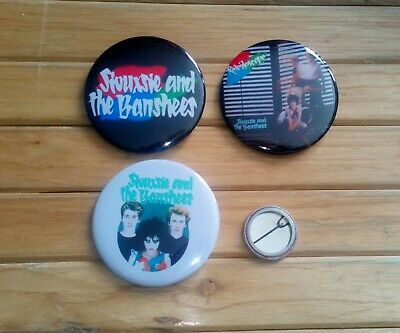 SIOUXSIE AND THE BANSHEES - KALEIDOSCOPE 3 X 58mm BADGES * NEW *  • 4£