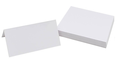 £3.49 • Buy 50 Plain White Scored Table Place Setting Name Cards Dinner Party Wedding  W133