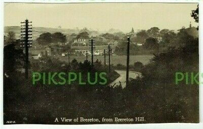 Old Pub Postcard View From Brereton Hill Cannock Chase Staffs Real Photo Trimmed • 4.50£