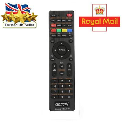 Universal Remote Control For All Devices - Perfect UK TV Replacement • 5.99£