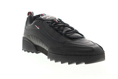 AU65.99 • Buy Reebok Rivyx Ripple DV6620 Mens Black Leather Lace Up Low Top Sneakers Shoes