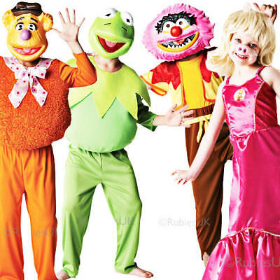 The Muppets Kids Fancy Dress TV Character Puppets Boys Girls Book Day Costumes • 17.99£
